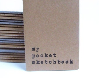 MOLESKINE® pocket size Notebooks; Hand screen printed with 'my pocket sketchbook'; Perfect for the artists, designers, architects, etc