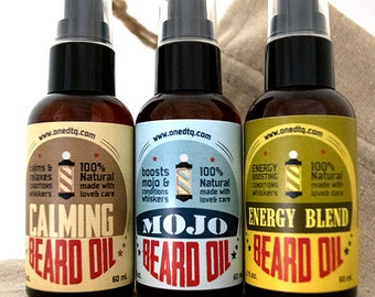 Beard Care Gift Set-  Beard Grooming Oil Pack