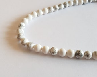 wire bead white howlite