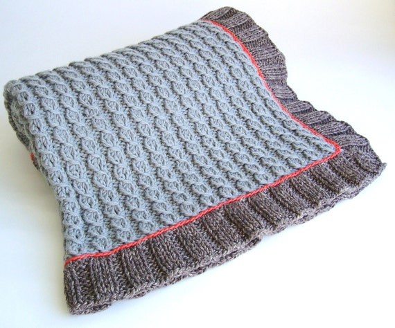 Knitting Pattern Mock Cable Baby Blanket Easy Knit Lap Blanket