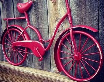 Bicycle Wall Art , Wall Decor , Beach Decor , Coastal Decor , Beach Bike , Bicycle Decor , Bike Art , Metal Wall Hanging , Housewarming Gift