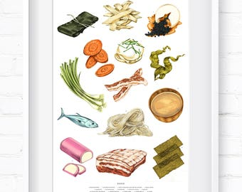 Ramen Art Print | Home Decor | Wall Art | Wall Decor | Giclée Print | Kitchen Inspo |  Kitchen Art |  Fine Art Print |  Ramen Kitchen Art