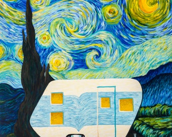 Starry, Starry Night Vintage Trailer