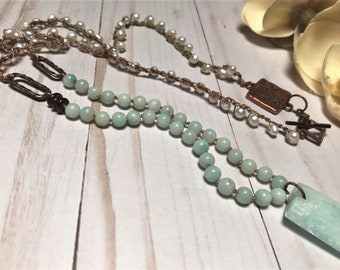 Be Amazing in Amazonite, bead necklace