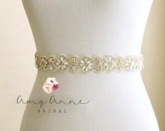 Bridal belt, wedding belt, bridal sash, wedding sash, rhinestone sash, crystal belt, rhinestone bridal belt - bridal sashes and belts