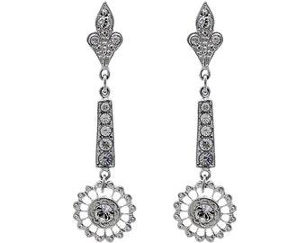 Bridal earrings, Art deco earrings, Swarovski crystal earrings, Wedding earrings, Crystal earrings