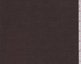 Dark Brown Cotton Lawn, Fabric By The Yard