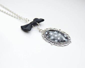 Grey Cameo Necklace