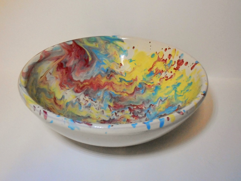 Jahrgang Lamas Italien Kunst Keramik Schale Pasta-Schüssel