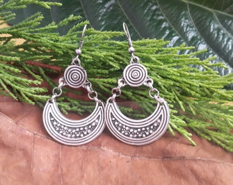 Antique Silver earrings, Tribal Earrings, Handmade earrings, Gypsy earrings, Ethnic earrings, Hippy earrings, Boho earrings, Tribal Earrings