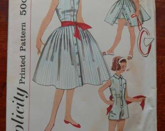Vintage 1950s Simplicity Girls Pattern #2521 Size 10 Bust 28