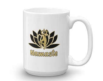 Yoga Lotus Flower Namaste Mug