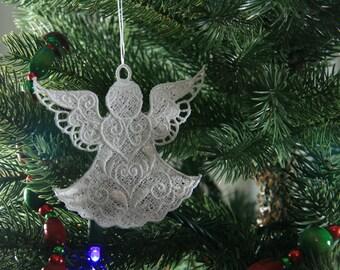 Angel Christmas Ornament, FSL Angel Ornament, Angel Ornament