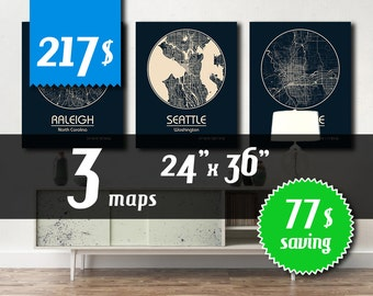 MEGA OFFER! 3 maps 24''x36'' size - 77 dollars saving! Great deal -SAVE 77 dollars - get 3 maps with discount!