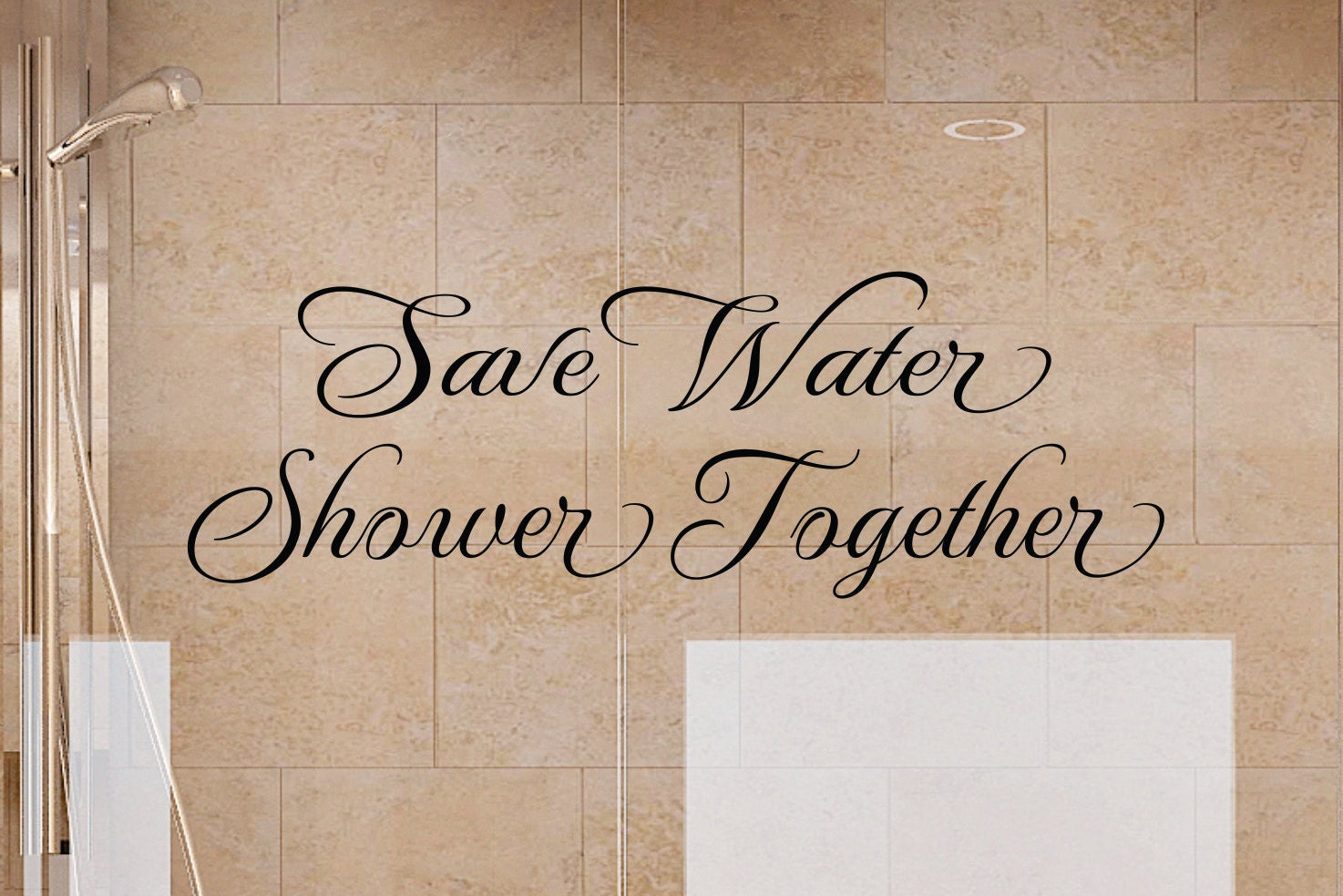 Bathroom Wall Decals   Save Water Shower Together 2 Bathroom Wall Decal    Bathroom Decor  Bathroom Wall Decor  Bathroom Art