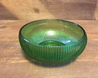 Vintage E.O. Brody Co. Ribbed bowl Emerald green