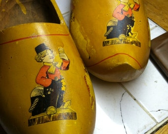 Vintage Heineken Wooden shoes from Holland