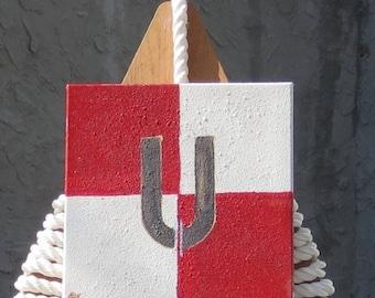 "Signal Flag ""U"" nautical print"