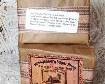 Goat Milk Soap, Maple scented, maple pecan, cold process soap, housewarming gift, mother's day, Moeggenborg Sugar Bush, teacher gift