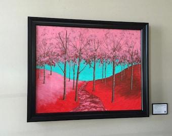 "Twilight Woods (ORIGINAL ACRYLIC PAINTING) 22"" x 28"" by Mike Kraus"