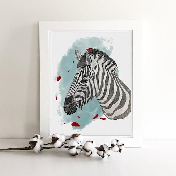 Jungle Animals - Zoo Animals - Zebra Print - Giraffe Print - Jungle Nursery - Nursery Safari Decor - Giraffe Art - Zebra Decor