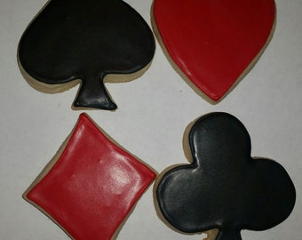 Card suits cookies!