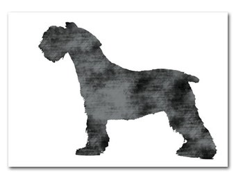 Schnauzer Dog Print -  silhouette, dog art, dog prints, pet lover, decor, Schnauzer art