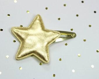 Gold Star Snap Clip -