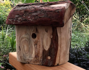 Handcarved Bird house