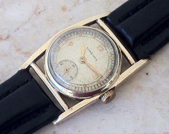 "Longines Watch, Art Deco, Caged Case, ""Mainliner"" Model, Classic Vintage Men's Watch, 17 Jewel 10L Movement, Working, Rare"