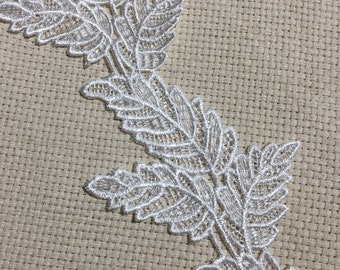Wedding White Venice Leaves ( Set of 3 ), Embellishments, Weddings, Scrapbooks, Junk Journals, Collages