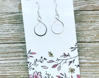 Delicate and dainty STERLING SILVER earrings.