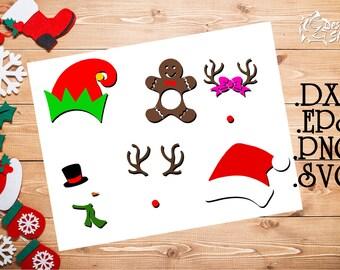 Christmas Monogram Frame Set SVG/DXF/PNG