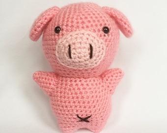Handmade Crochet Pig Knitted Piglet Toy