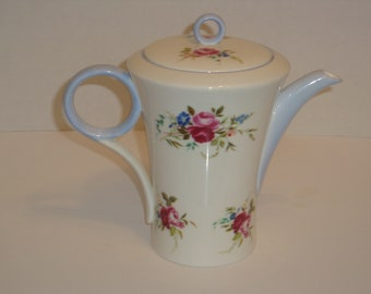 Shelley England Blue Dubarry Regent Shape Tea or Coffee Pot - Pattern #2278