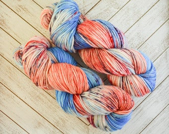 Tampering With Teacups - Hand Dyed DK Weight Yarn 100% Superwash Merino Wool