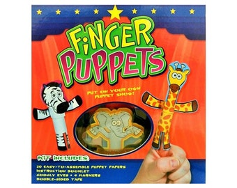 Finger Puppets Kit | Puppet kit for kids, puppet ministry | includes booklet