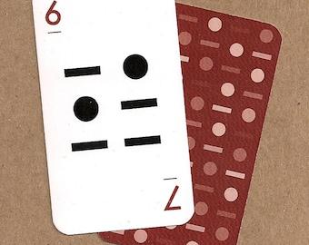 Linear Alphabet Card - 6/7