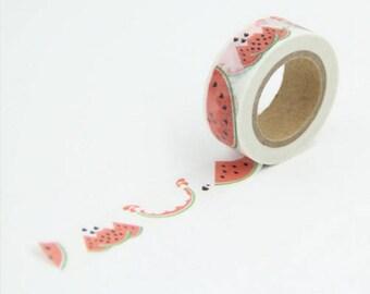 Watermelon 10 m - Masking tape Washi tape with watermelon