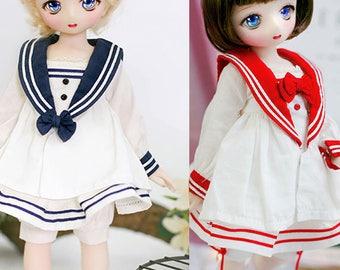 CODENOiR - Sailor Dress  BJD for YOSD/ 1/6