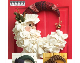 Sewing Pattern for Christmas & Winter Hanging Decorations, McCall's Pattern 5205, Halloween, Seasonal Door Wreath Patterns