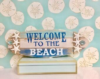 Beach Decor - Beach Signs with Natural Starfish and Shells - Choose from Three Signs - coastal nautical sea shells star fish