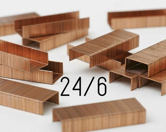 One box of 1000 copper staples - SAX - 24/6