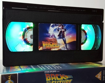 Retro VHS Lamp Back to the Future 80s Night Light Mood Table Lamp, Horror Movie . Order any movie! Great gift. Man Cave. Office. Mothers Day