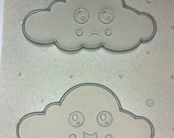 Flexible Resin Mold Kawaii Clouds Mould