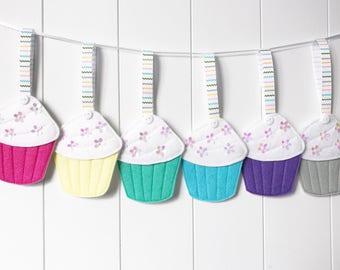 Rainbow Cupcakes - Cupcake Decorations - Cupcake Decoration - Cake Decoration - Felt Cake Decorations - Cake Smash Props - Rainbow Cakes