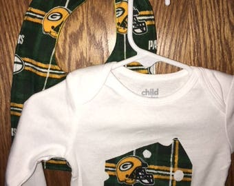 Baby 6-12 Month Green Bay Packer Clothing Set
