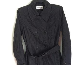 CRAZY SALE !! Calvin Klein Like Trench Coats For Women Nice Design Black Colour