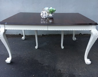 Antique claw foot dining room table