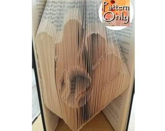 Baseball Mitt Folded Book Art Pattern